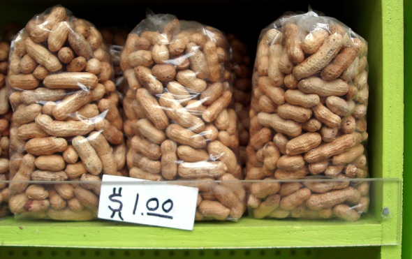 Peanuts in bags